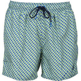 arena Fundmentals Allover Shorts Men, verde/azul